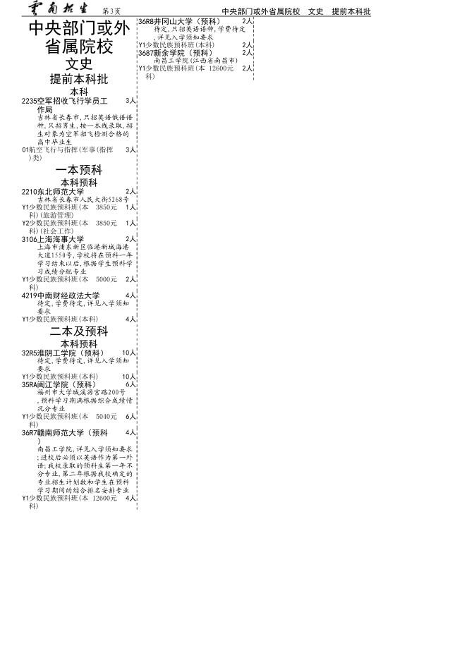 云南高考补充3