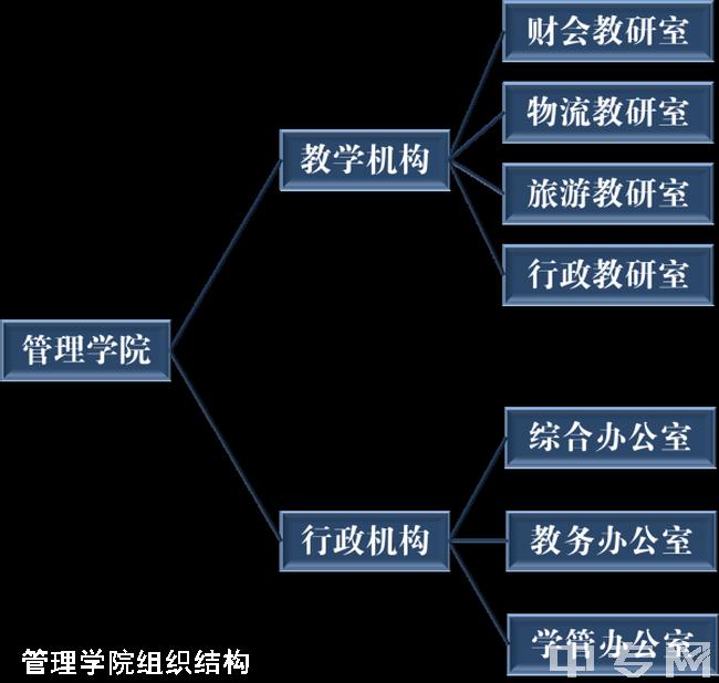 巴中职业技术学院管理学院组织结构