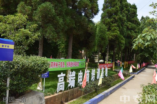 云南省电子信息高级技工学校校园一角