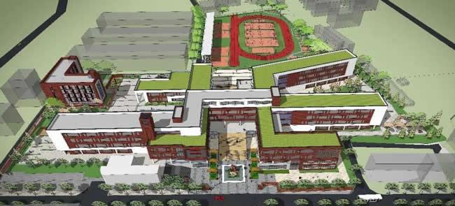 西安市五环中新校区旷景图