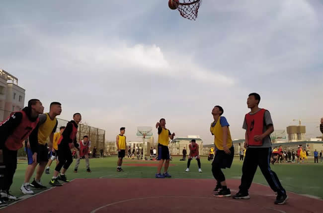西安市五环中学▲篮球赛