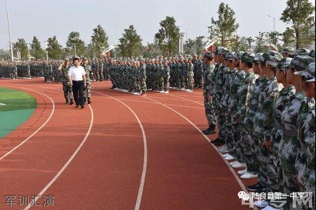 陆良县第一中学军训汇演