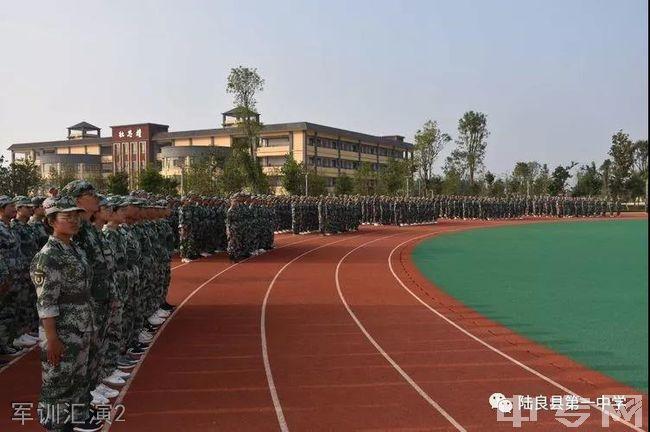 陆良县第一中学军训汇演2