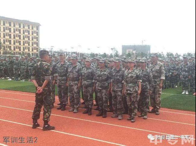 陆良县第一中学军训生活2
