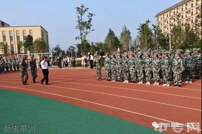 陆良县第一中学新生军训